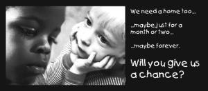 Foster care we need help