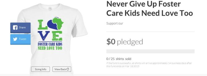 """Never Give Up"" Foster Care Kids Need Love Too Fundraiser"